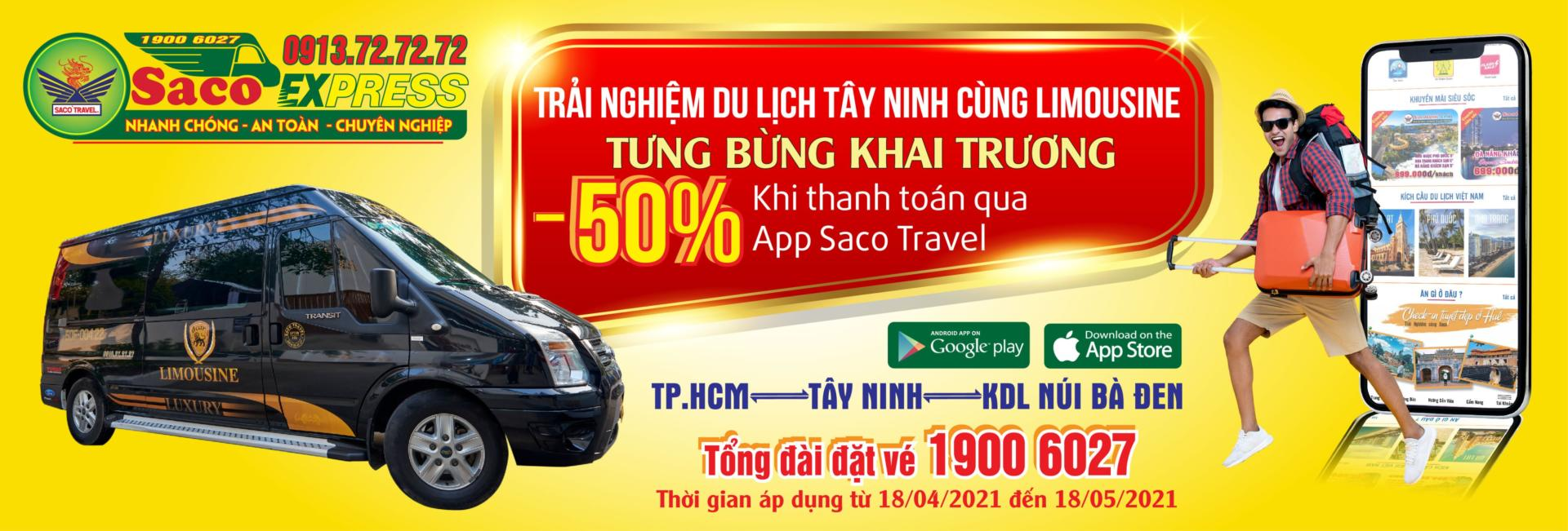 saco khai trương tuyến Limousine Sài Gòn Tây Ninh